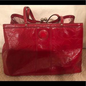 Coach carry all signature purse